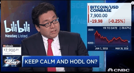 Tom Lee, in an interview with CNBC