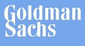 Blue and White Goldman Sachs logo
