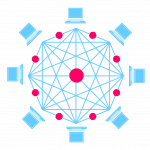Graphic representation of master node in a network
