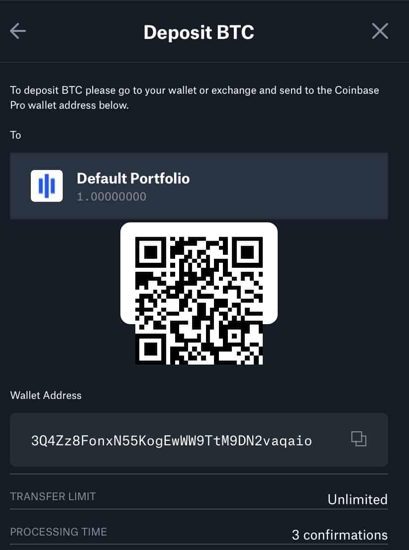Sample QR code for bitcoin address