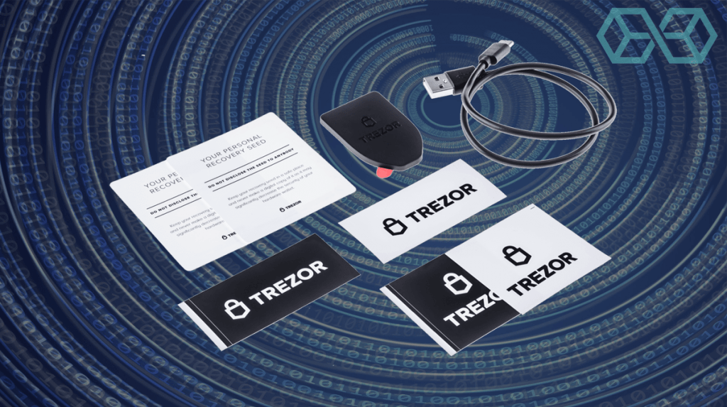 Trezor One crypto hardware wallet can store ether and tokens