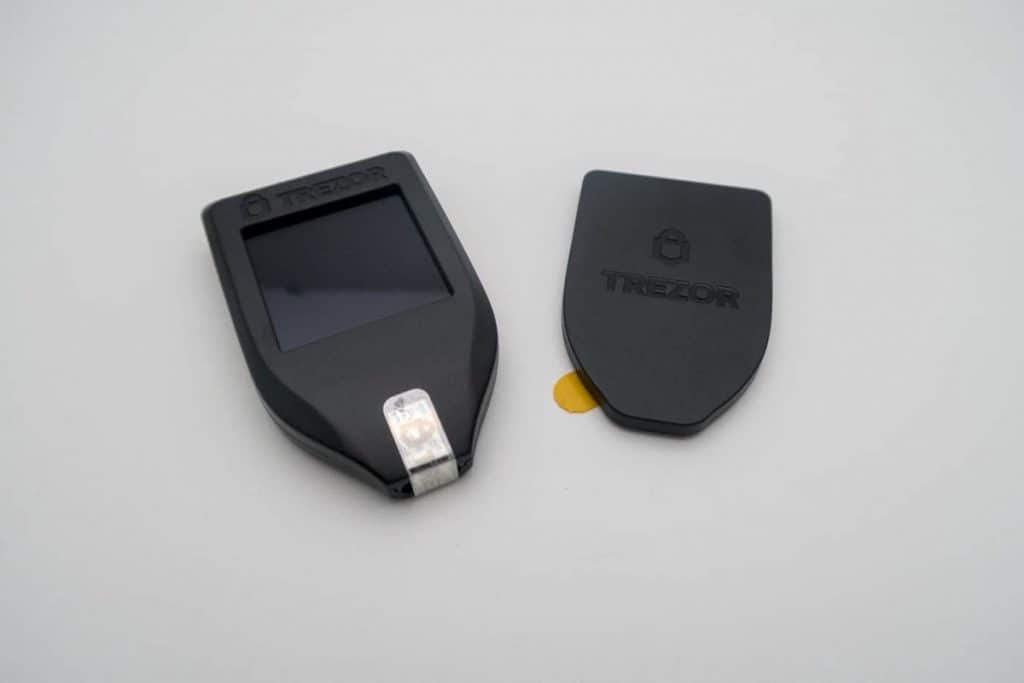 Trezor cryptocurrency hardware wallet for storing litecoin